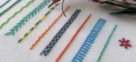 Hướng dẫn thêu các biến kiểu của mũi dây chuyền – Chain Stitch and variations